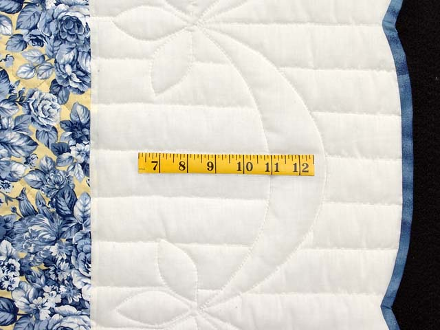 Navy and Yellow Dahlia Star Quilt Photo 7
