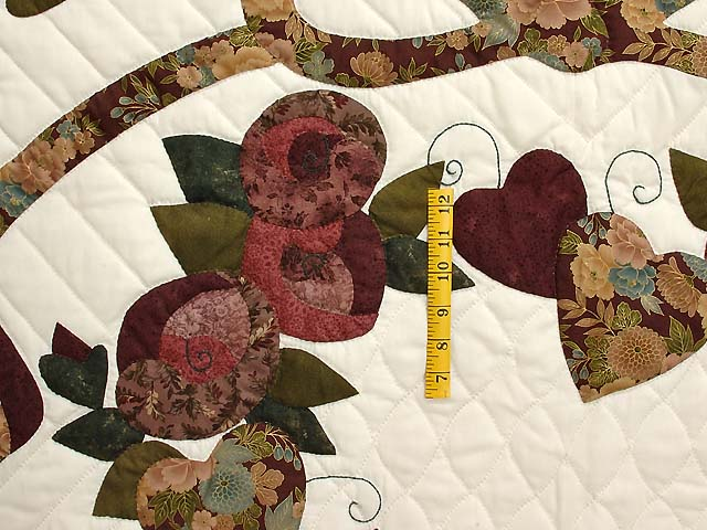 Plum Green and Gold Country Love Quilt Photo 4