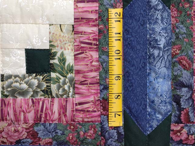 Blue Plum and Green Colorado Log Cabin Quilt Photo 5