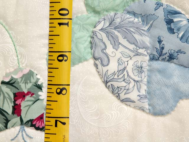 Blue Mint and Ivory Heart of Roses Quilt Photo 6