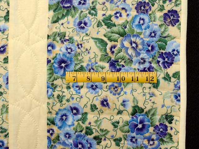 Pansy Blue and Yellow Log Cabin Star Quilt Photo 7