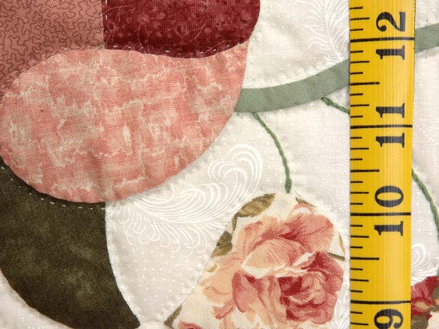 Dusty Rose and Moss Heart of Roses Quilt Photo 6