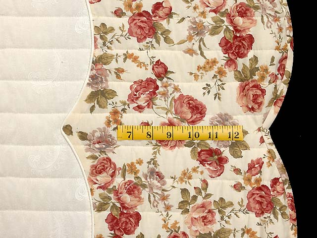 Dusty Rose and Moss Heart of Roses Quilt Photo 7