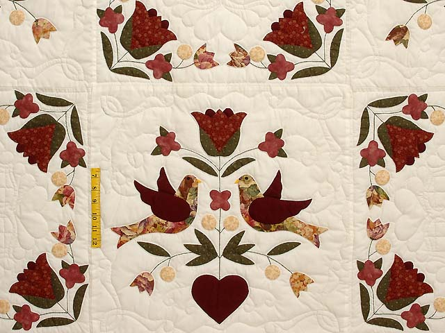 Rose and Gold Love Dove Quilt Photo 4