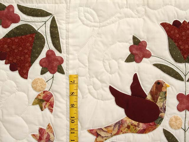 Rose and Gold Love Dove Quilt Photo 5