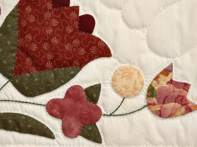 Rose and Gold Love Dove Quilt Photo 6