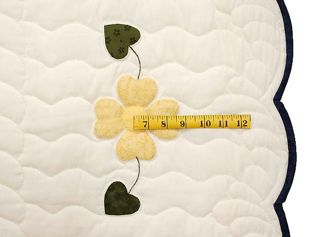 Navy and Yellow Heart Bouquet Quilt Photo 7