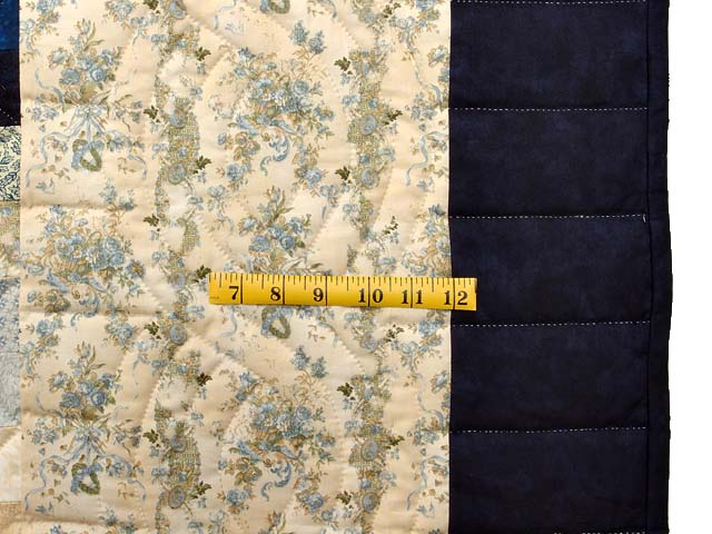Navy Blue and Gold Trip Around the World Quilt Photo 7