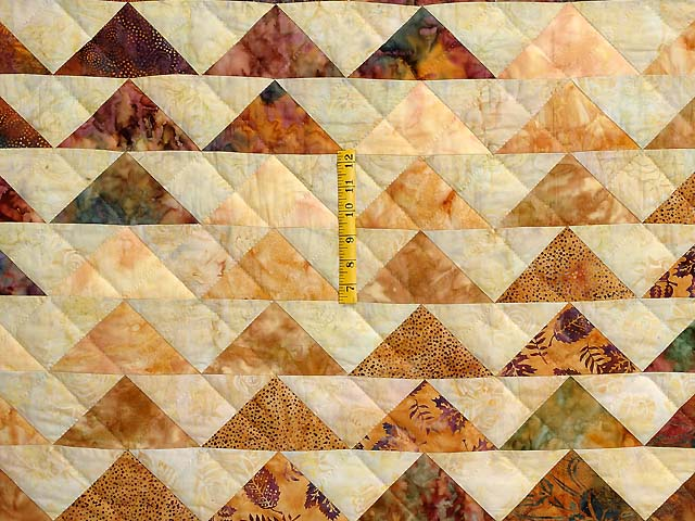 Hand Painted Rainbow Pyramid Quilt Photo 4