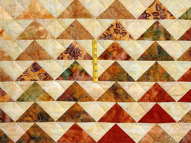 Hand Painted Rainbow Pyramid Quilt Photo 5