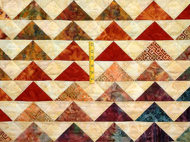 Hand Painted Rainbow Pyramid Quilt Photo 6
