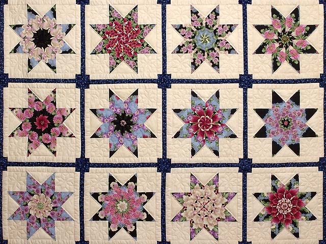 Blue and Multicolor Stack and Whack Stars Quilt Photo 3