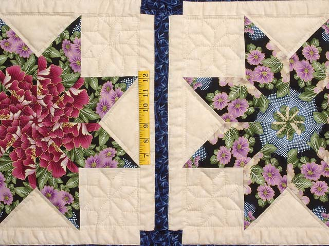 Blue and Multicolor Stack and Whack Stars Quilt Photo 4