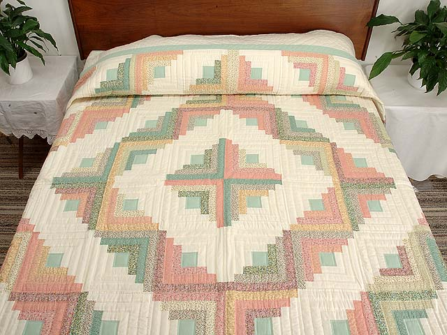 King Pastels Log Cabin Quilt Photo 1