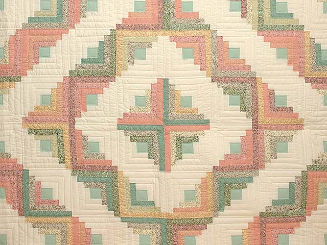 King Pastels Log Cabin Quilt Photo 3
