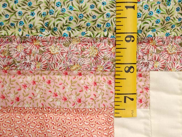 King Pastels Log Cabin Quilt Photo 6