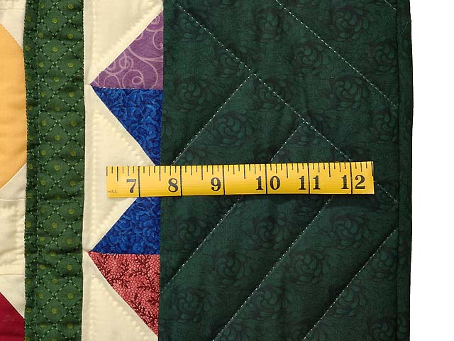 King Dark Green and Multicolor Starry Night Quilt Photo 6