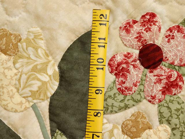 King Burgundy Moss Green and Tan Spring Basket quilt Photo 5
