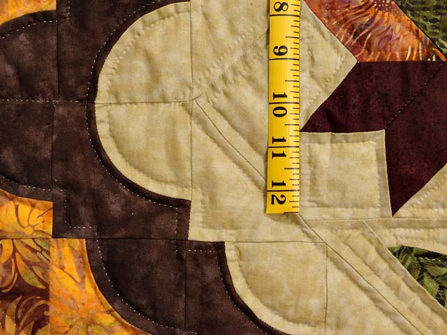 King Green Brown and Ocher Roxanne Quilt Photo 5