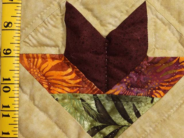 King Green Brown and Ocher Roxanne Quilt Photo 6