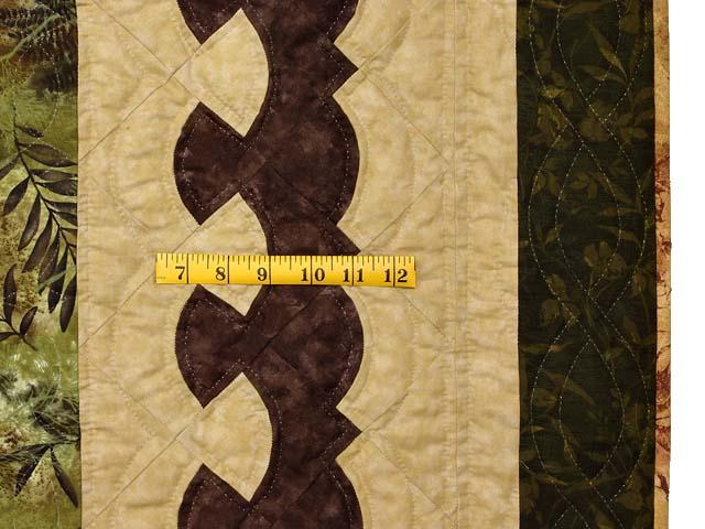 King Green Brown and Ocher Roxanne Quilt Photo 7