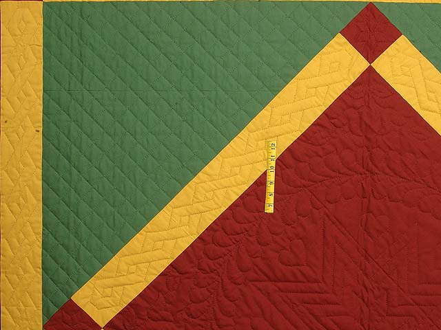 Extra Fine Midwestern Amish Colors Center Diamond Quilt Photo 5