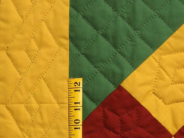 Extra Fine Midwestern Amish Colors Center Diamond Quilt Photo 6