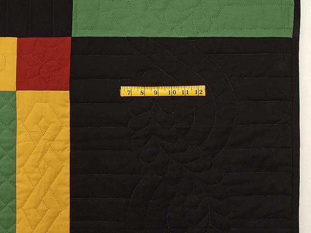 Extra Fine Midwestern Amish Colors Center Diamond Quilt Photo 7