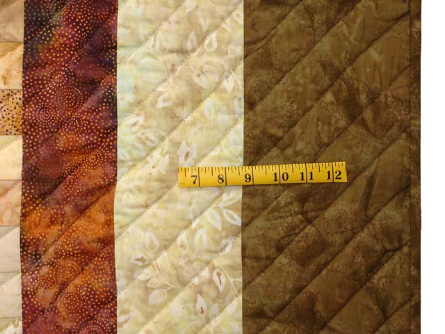 King Moss Plum and Willow Hand Painted Bargello Wave Quilt Photo 7
