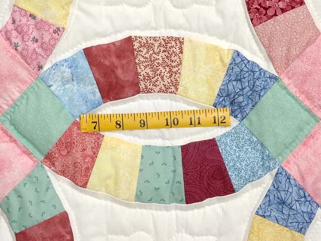 Twin Pastel Double Wedding Ring Quilt Photo 5