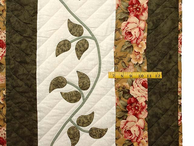Green Gold and Rose I Promised You a Rose Garden Quilt Photo 7