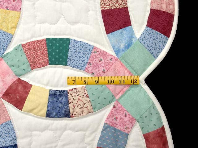 Pastel Double Wedding Ring Quilt Photo 6