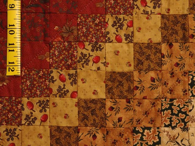 Green Wheat and Burgundy Color Splash Quilt Photo 5