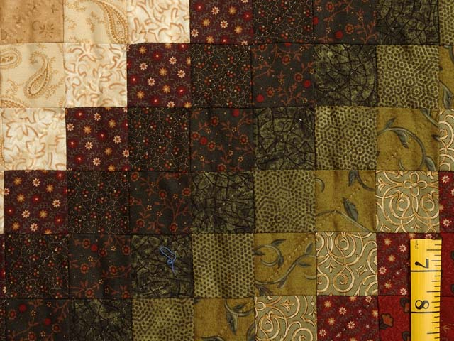 Green Wheat and Burgundy Color Splash Quilt Photo 6