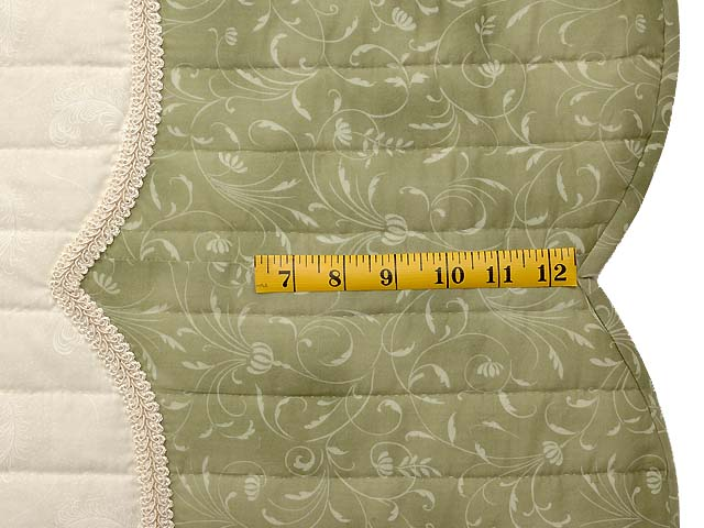 Mint Green and Rose Poppy Field Quilt Photo 7