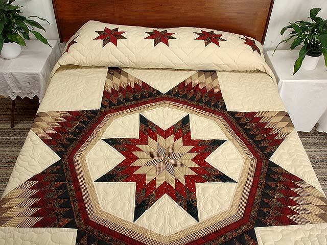Country Colors Royal Star of Maryland Quilt Photo 1