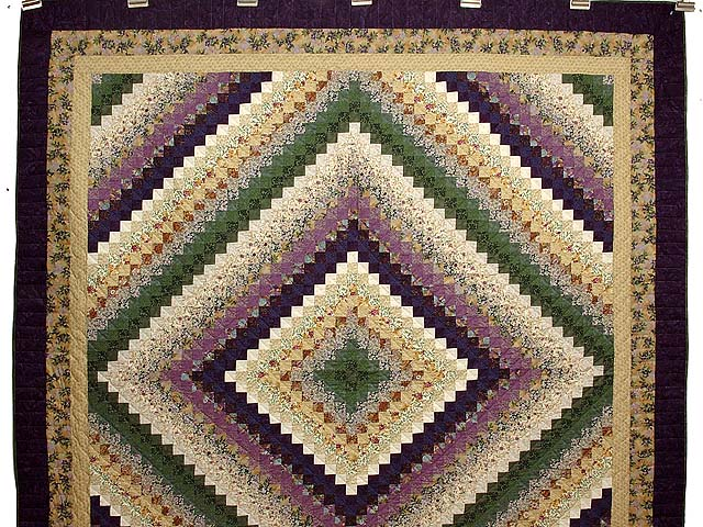 Lavender and Green Trip Around the World Quilt Photo 2