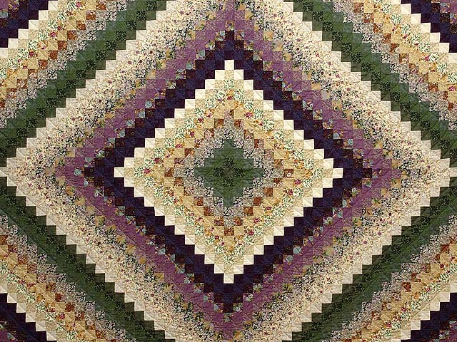 Lavender and Green Trip Around the World Quilt Photo 3