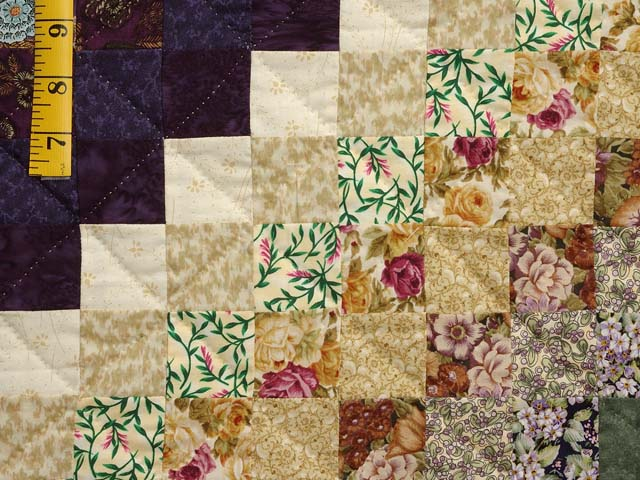 Lavender and Green Trip Around the World Quilt Photo 5