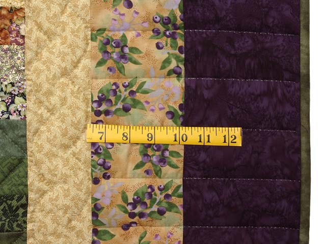 Lavender and Green Trip Around the World Quilt Photo 7
