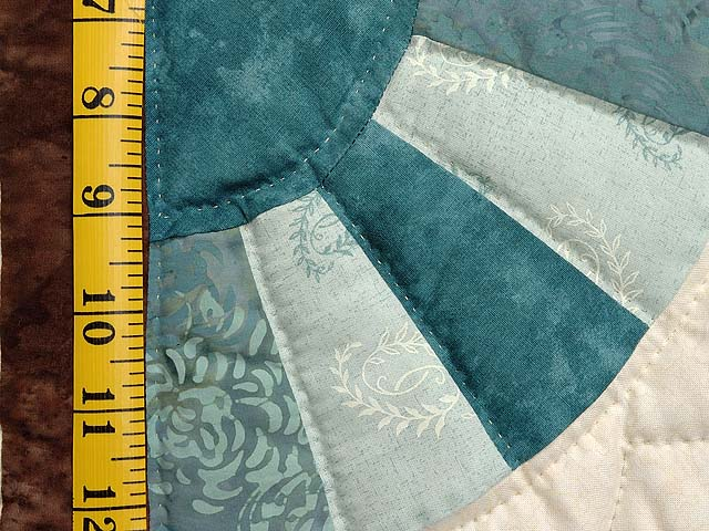 Teal and Brown Flying Geese Log Cabin Medallion Quilt Photo 6