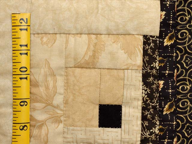 King Black and Gold Off Center Log Cabin Quilt Photo 6