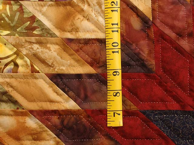 Tan Moss Gold and Multi  Flowering Star Quilt Photo 6