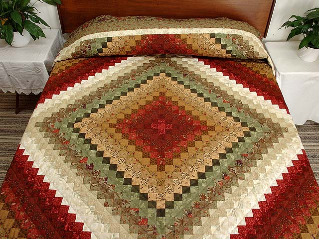 Sage Paprika Wheat and Ivory Color Splash Quilt Photo 1