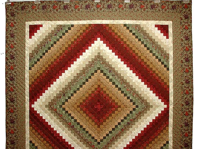 Sage Paprika Wheat and Ivory Color Splash Quilt Photo 2