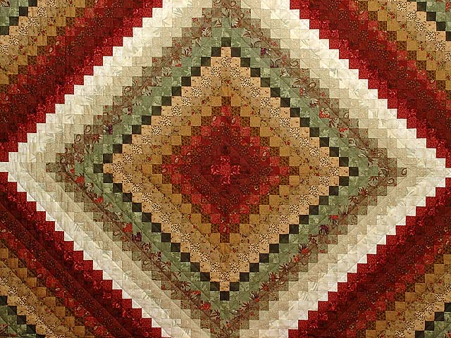 Sage Paprika Wheat and Ivory Color Splash Quilt Photo 3