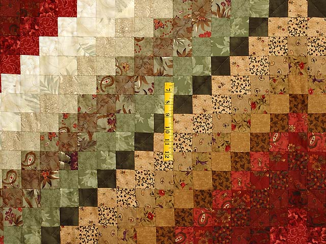 Sage Paprika Wheat and Ivory Color Splash Quilt Photo 4