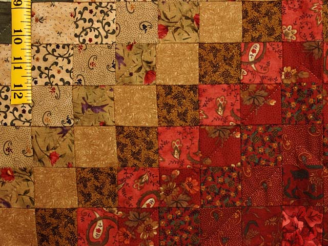 Sage Paprika Wheat and Ivory Color Splash Quilt Photo 5