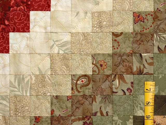 Sage Paprika Wheat and Ivory Color Splash Quilt Photo 6
