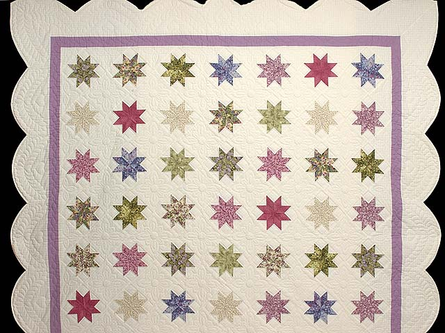 Lavender and Multi Variable Stars Quilt Photo 2